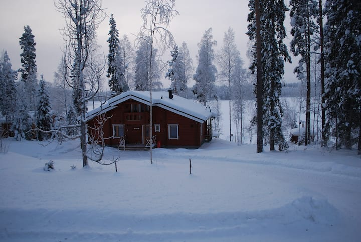 Villa Kukka log house for 10 person ,Saimaa area