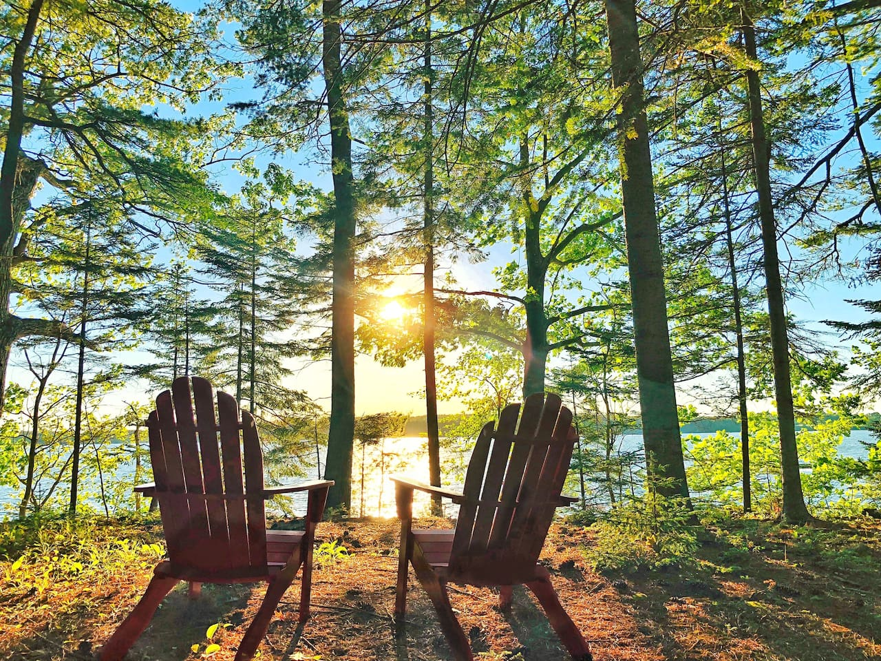 Relax in our comfortable adirondack chairs and savor the breathtaking view
