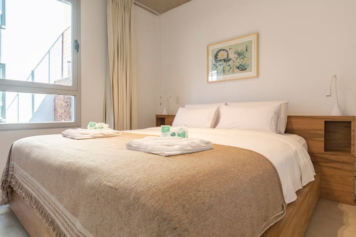 Luxury 1BR Sunny Home -Laundry and Gym  in Palermo