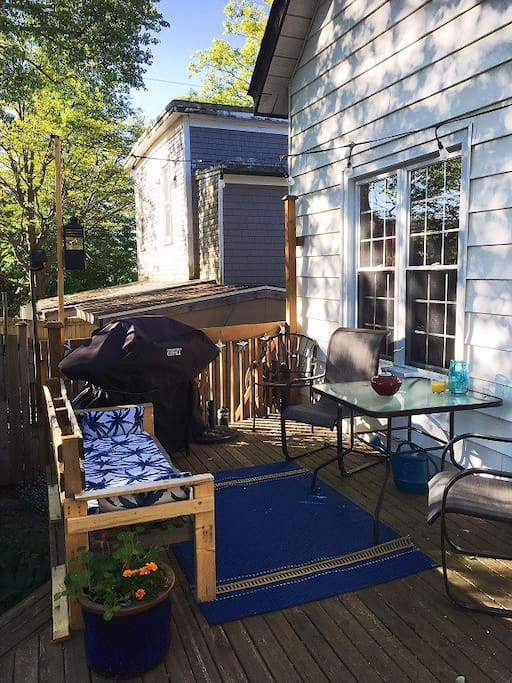 Sit on the back deck and enjoy the sun after a day of exploring!