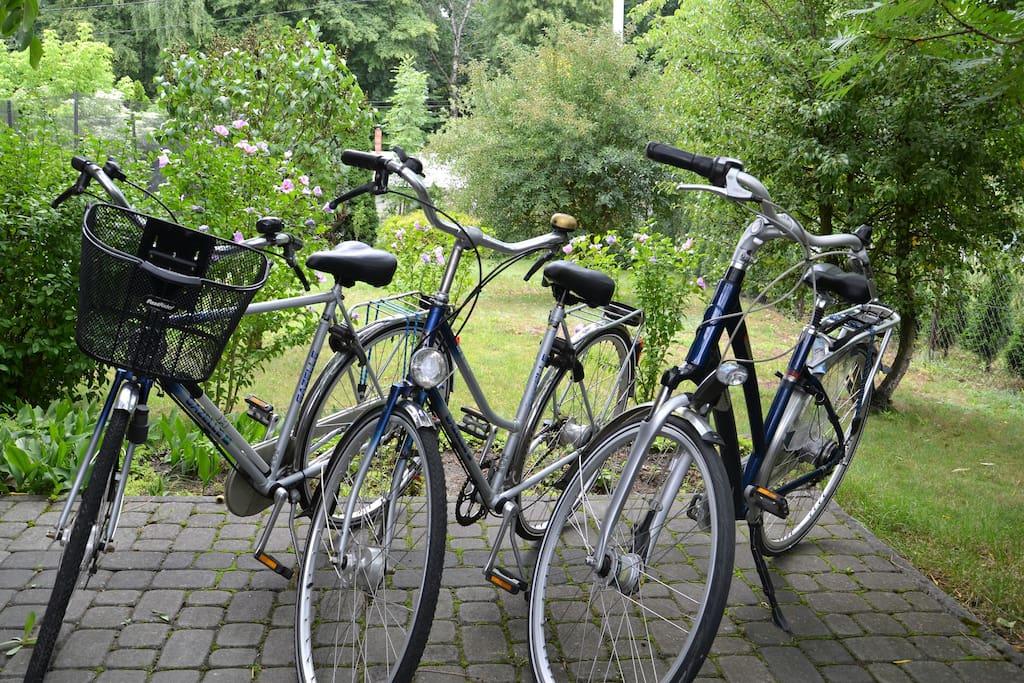 Do dyspozycji naszych gości mamy 4 rowery. Gratis.