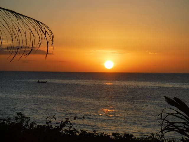 Sunset in front of Camp Jenil Serenity Beach Hometel