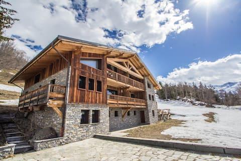 Chalet Bella - La Rosière, sauna jacuzzi pour 10 personnes