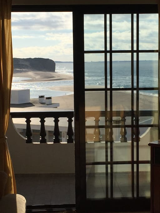 Patio window doors and sea views