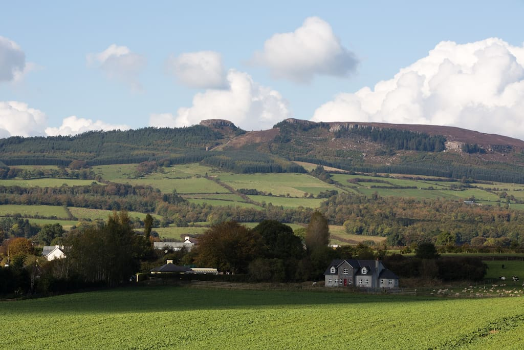 View of nearby Devils Bit Mountain, offering wonderful public walks