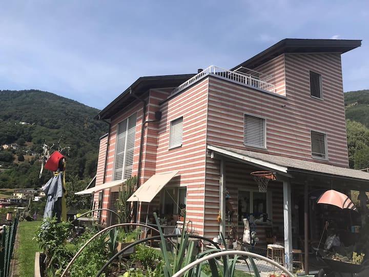 Casa con vista a Bioggio