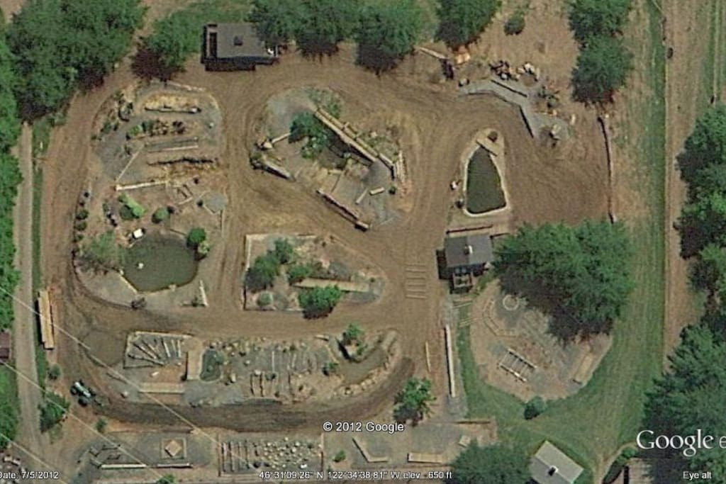 Aerial view of Bolender's Trail Course