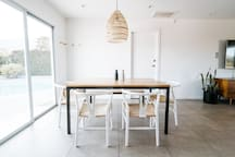 Enjoy your meals with friends/family around the dining table. Seats 6.