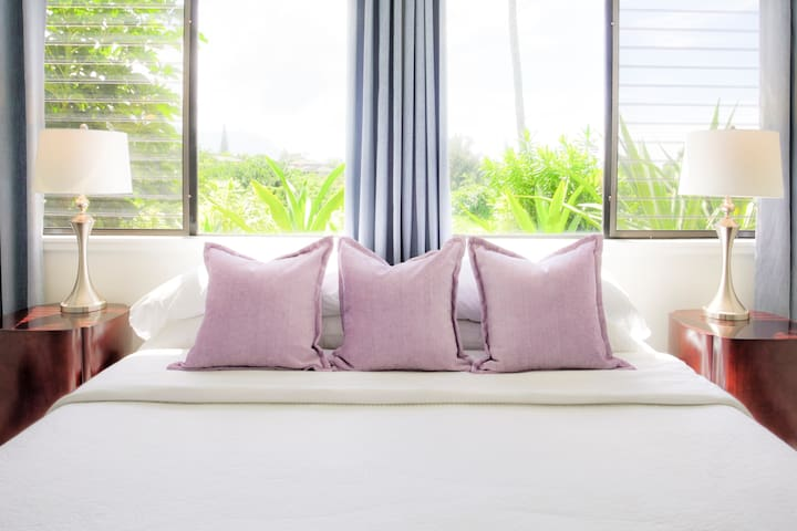 The Master Bedroom - Expertly Prepared with Crisp White Linens