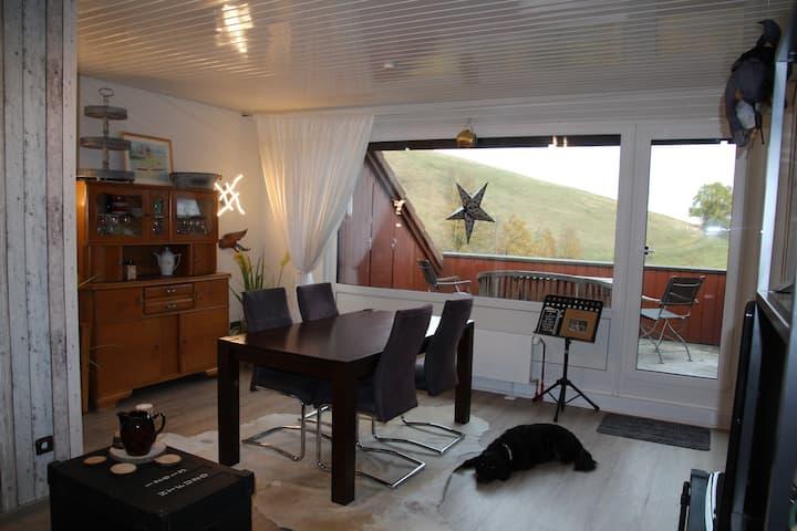 Gemütliche Wohnung mit Blick auf den Glockenberg