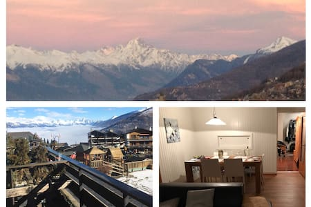 Cozy apartment with a breathtaking view - Nendaz - Wohnung