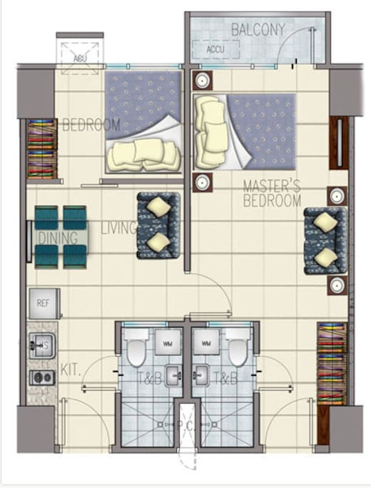 2 unit combined layout