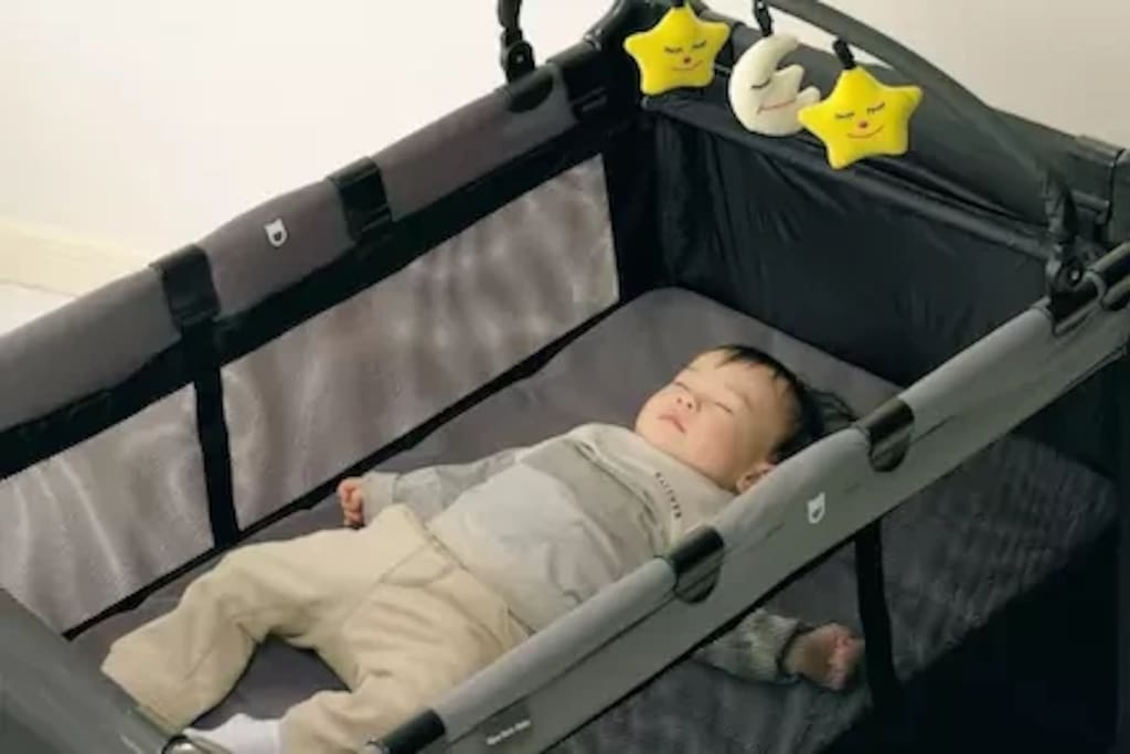 Provided baby cot.