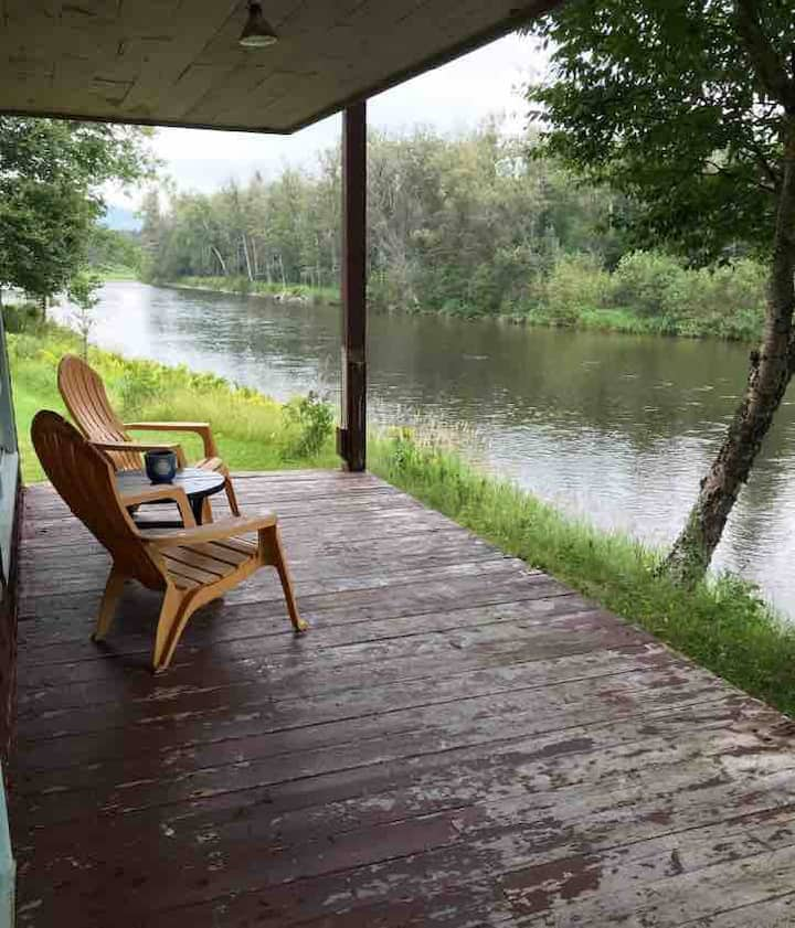 Tobique River waterfront in Riley Brook
