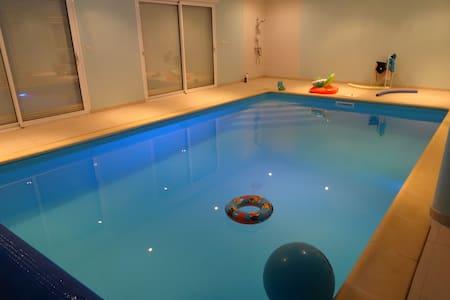 Longere Fosse Mouillée met zwembad - Viel-Saint-Remy - Rumah