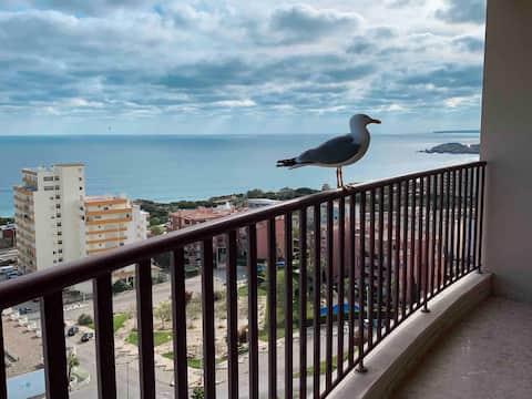 🌏 Panoramic Aprt Ocean View, WiFi, Beach 300 Mt