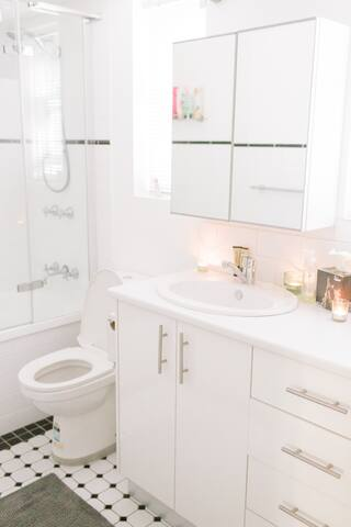 En suite Bathroom with shower over the bath