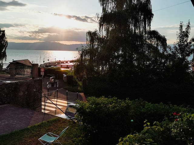 Studio au Port de Rives avec vue lac ***NETFLIX***
