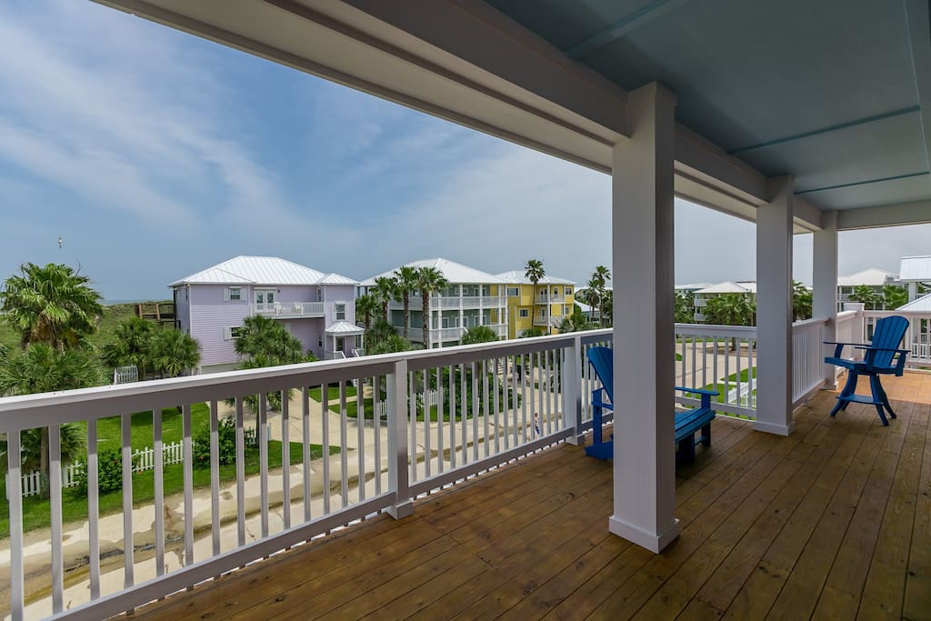 This huge patio is great for outdoor entertaining or just relaxing with the sound of the waves.