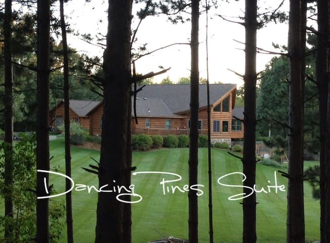 DANCING PINES SUITE near SJU, CSB & Wobegon Trail.