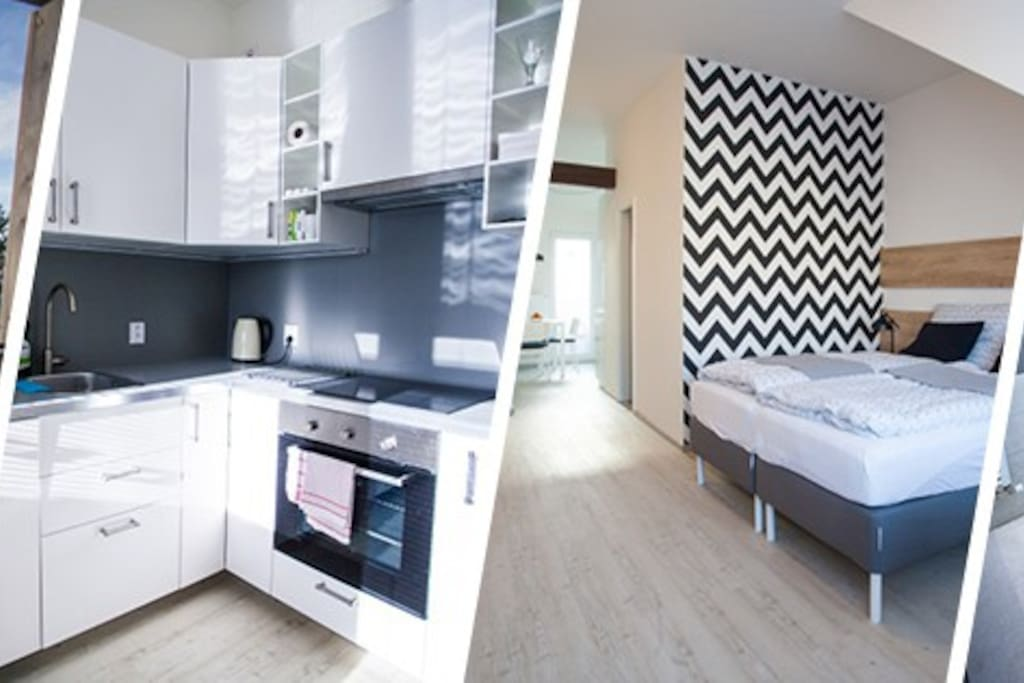 Kuchyň a ložnice