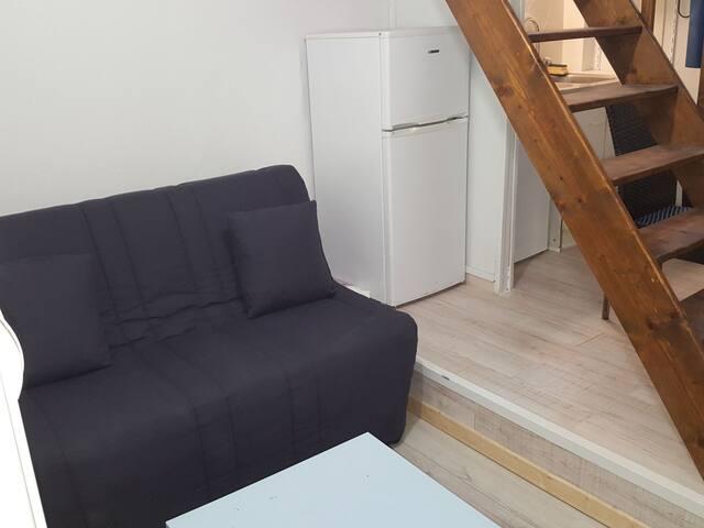 studio en duplex  pour 2 personnes