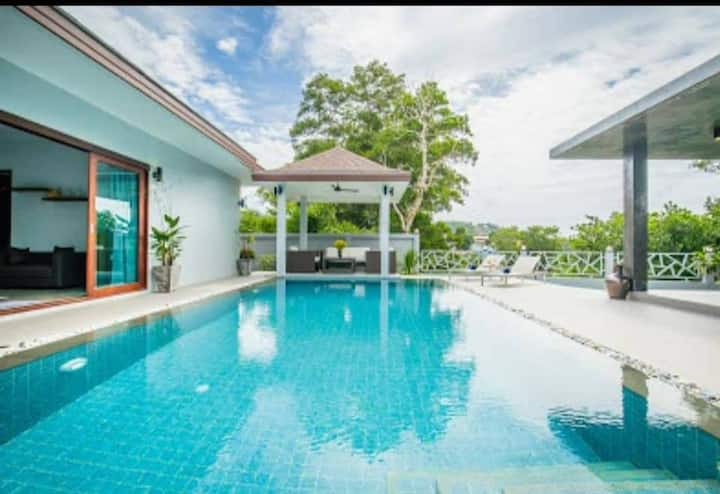 Private villa, private pool nice view