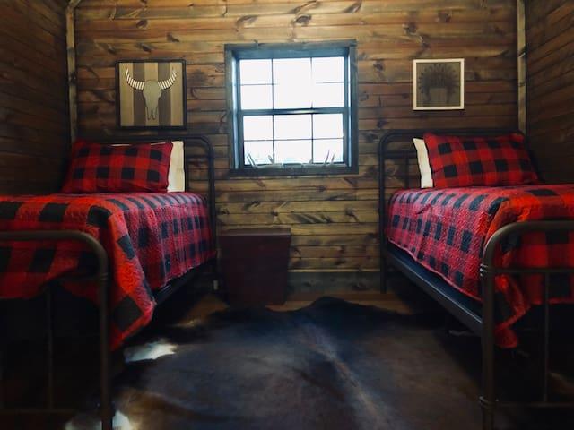 Third floor loft twin beds