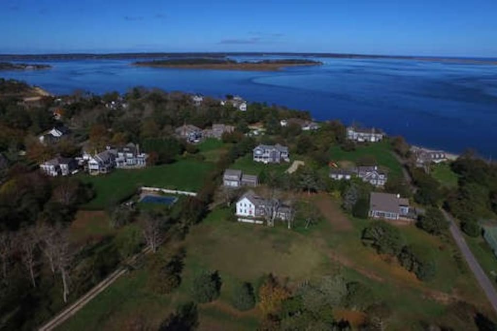 Large 3 acre estate walking distance to the beach