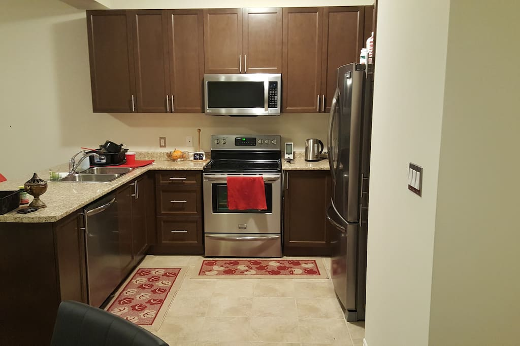 Stainless steel appliances, Keurig with Coffee, Kitchen ware, utensils, pots/pans