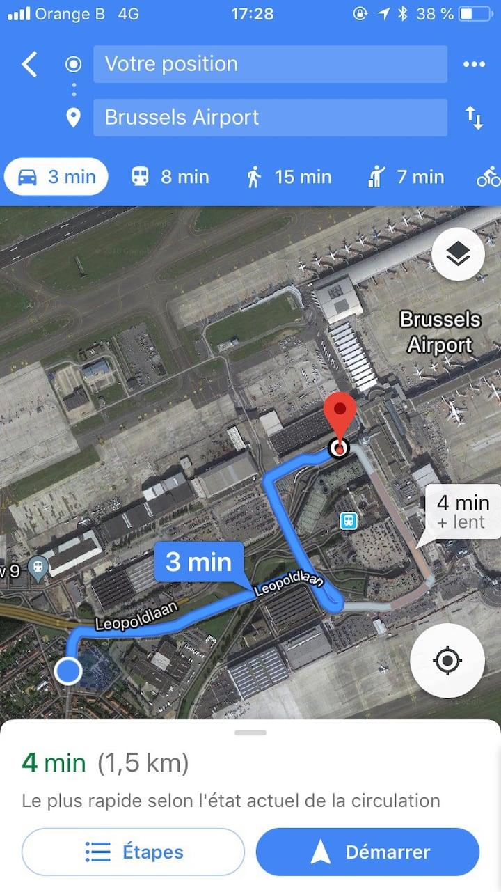 chambre privé 5 min de l'aéroport
