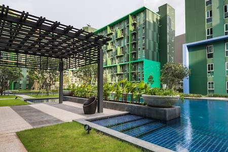 1 Br Pool View Urban Style Kaset–Nawamin [bonni]