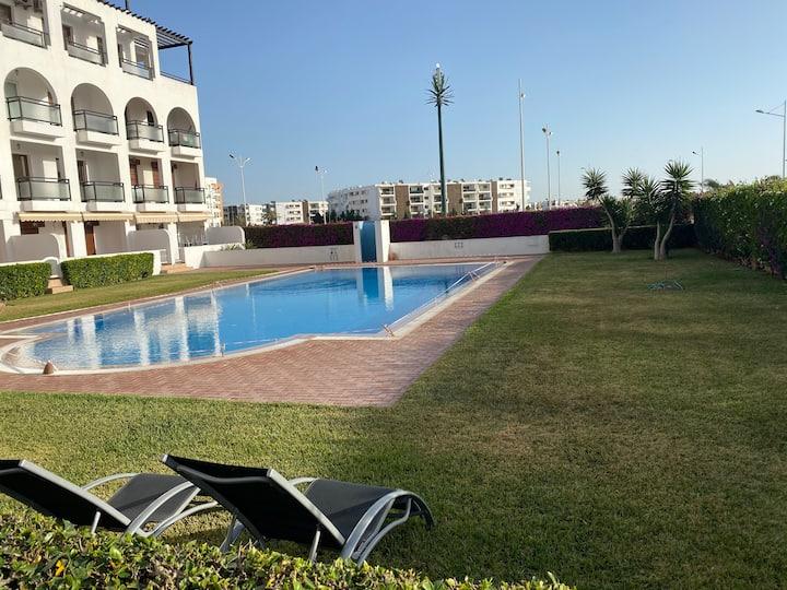 Apartment with Sauna, pool near Agadir beach