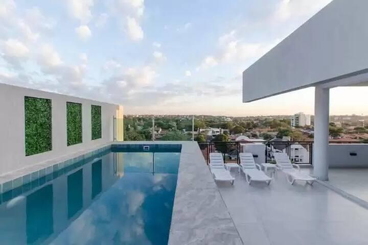 Villamorra Departamento con piscina Zona Shopping