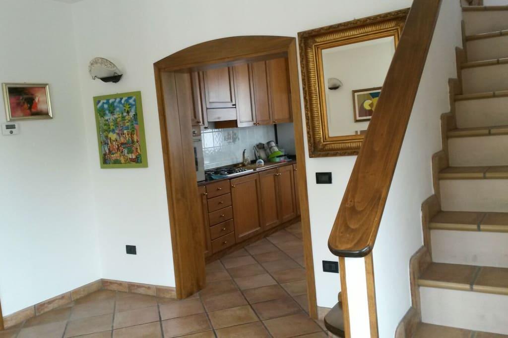 cucina dall'ingresso