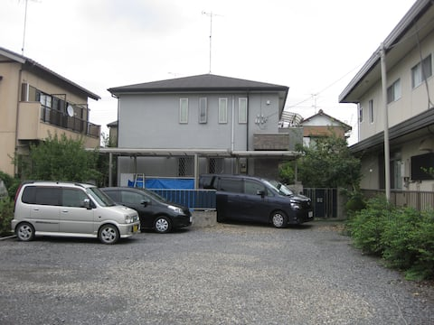 1 hour by train from Tokyo. Residential area.