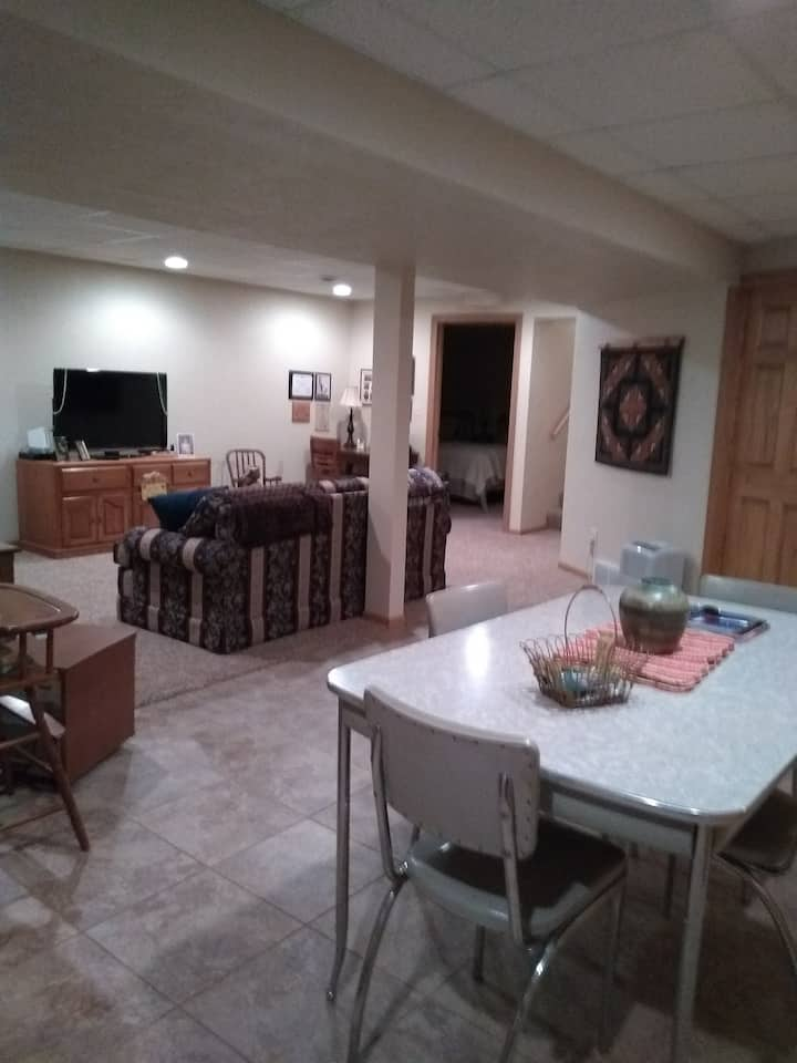 Homey lower level apartment with private entrance