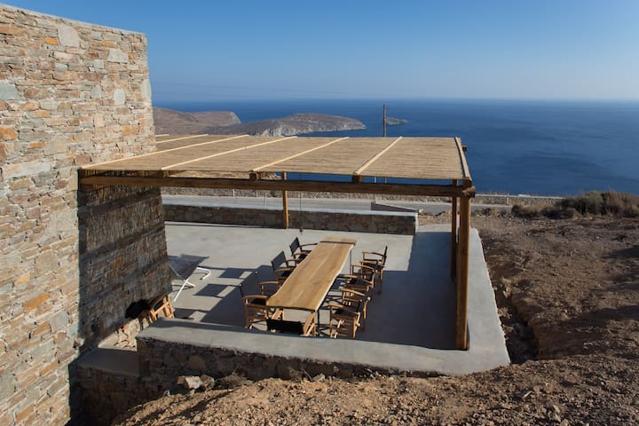 Deep Blue, awesome Aegean sea view villa / House 1 - Serifos - Rumah