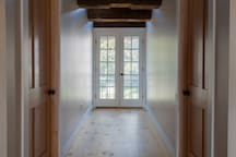 Hallway with French Doors