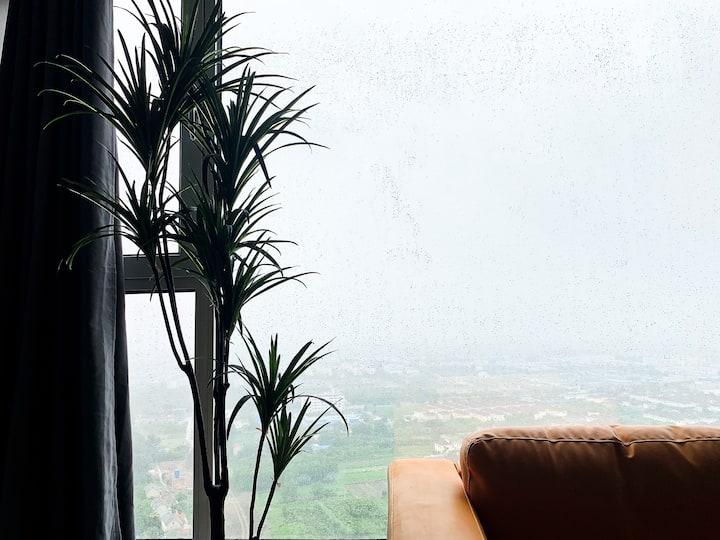 【天际线】新弄里旁32楼高层,3房2厅1卫,景观盐城独一无二网红民宿。