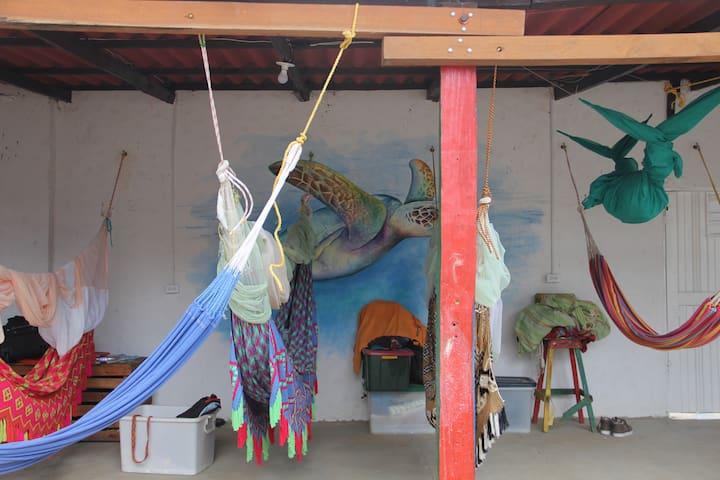 Hammocks Hostel5- Sleep in a hammock 15000COP (4€)