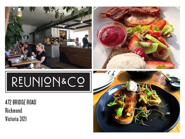 Reunion & Co....a local favourite for breakfast/lunch