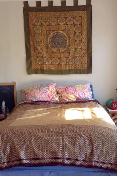 Bright and clean queen sized pillow top bed!
