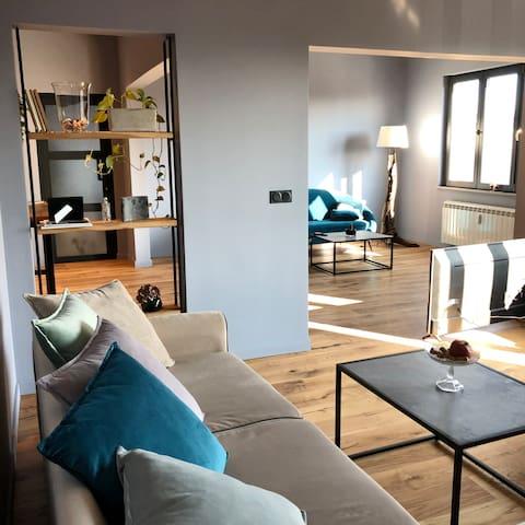 New! Spacious Top Center apartment