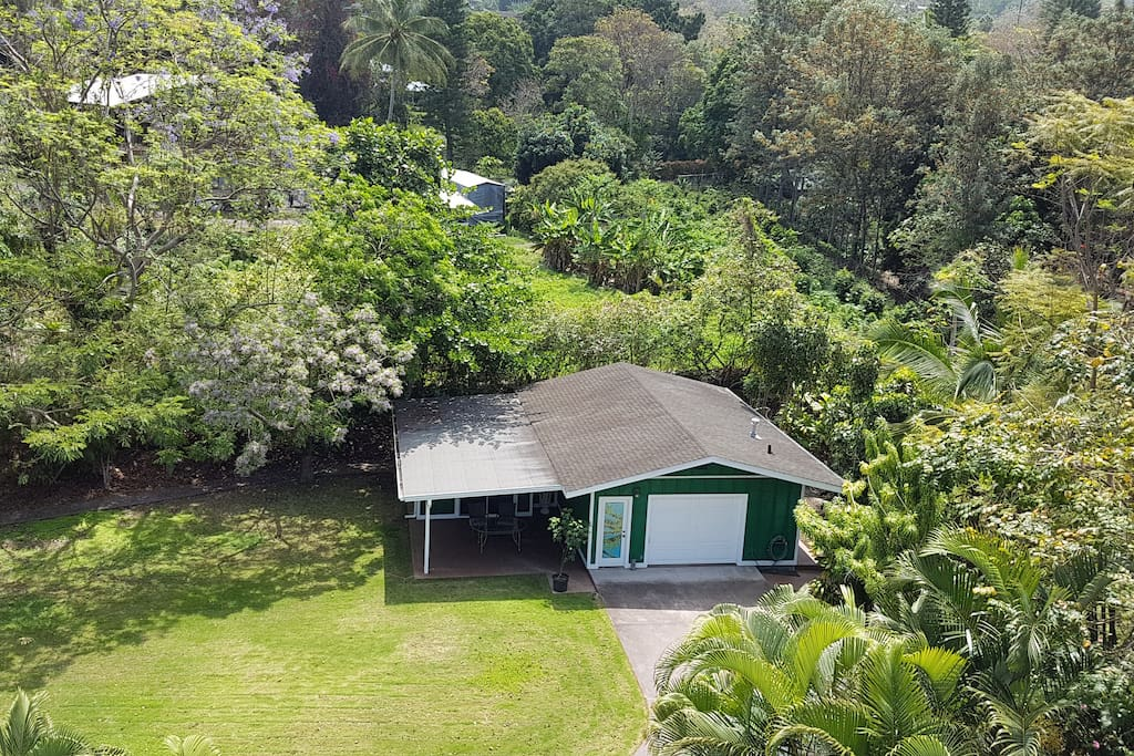 areal view of little green house