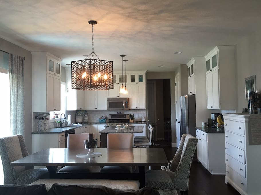 Stainless steel appliances, double oven, microwave