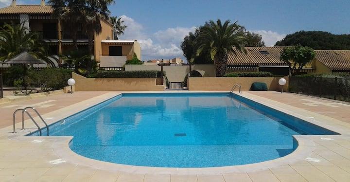 Studio avec piscine presqu'île de Giens