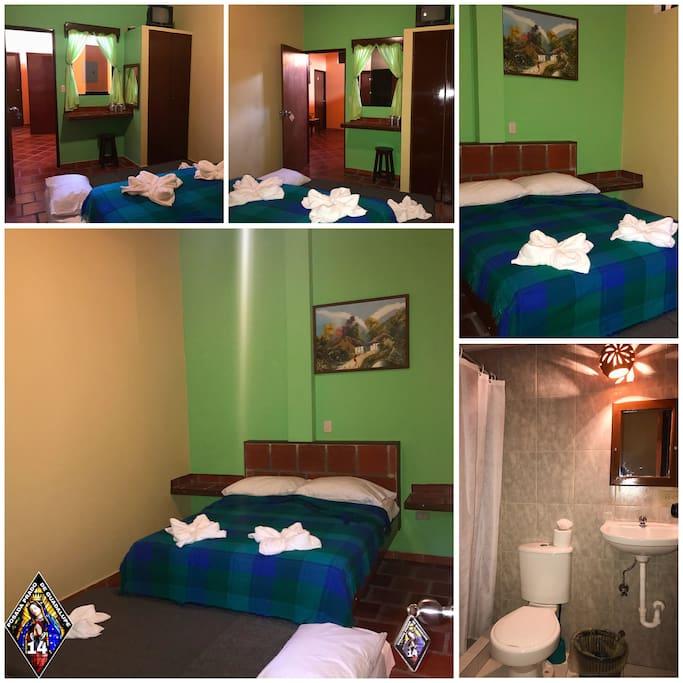En la #posadapradodeguadalupe contamos con diversas habitaciones, entre ellas la #Hab14. Consta de una cama Individual,una cama Matrimonial Ventilador de Techo con baño incluido para su mayor comodidad y disfrute de la misma. #meridavenezuela #posadamerida
