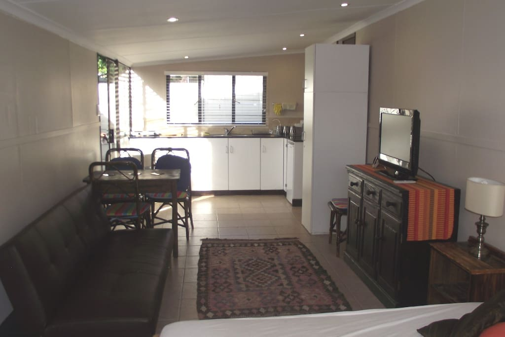 Large 1 bedroom open plan - sleeper couch for extra guests
