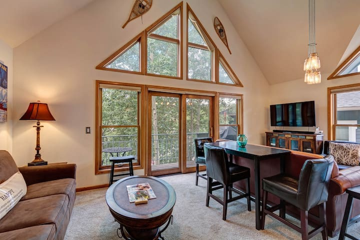 Dog-friendly condo right in the center of town - walk to & from skiing!